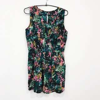 New Look Tropical Neon Playsuit