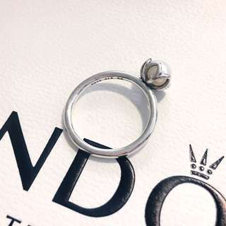 RRP $69! Authentic Retired Pandora Ring ! Freshwater Pearl Ring Size 54