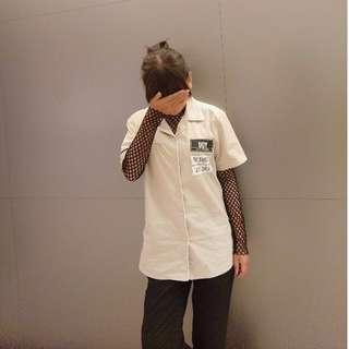 h.connectㄉ短袖襯衫