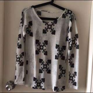 H&M long spade blouse
