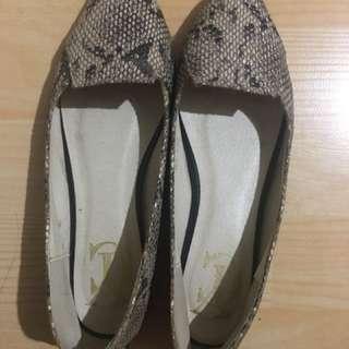Flatshoes snake skin
