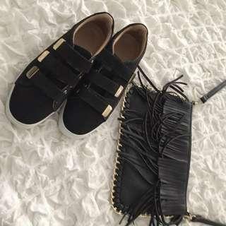 Shoulder Bag/ ALDO Shoes (sold) /choker