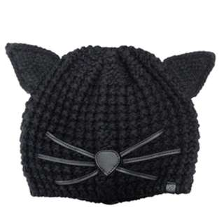 KARL LAGERFELD 貓咪針織帽