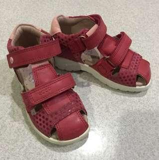 Ecco Pink Girl Shoes Sz 25