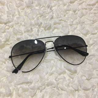 Black Ombre Tinted Sunglasses
