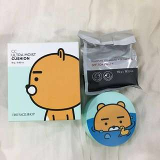 Sale: BNIB The Face Shop Limited Edition Kakao Friends Ryan V201 CC Ultra Moist Cushion