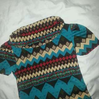 Colorful Aztec Long Top (Repriced)