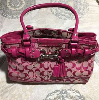 Original Coach braided handbag