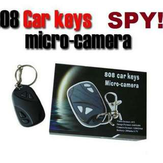 808 Spy Car Key Pinhole Keychain Hidden Camera