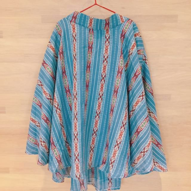 淺藍色渡假長裙