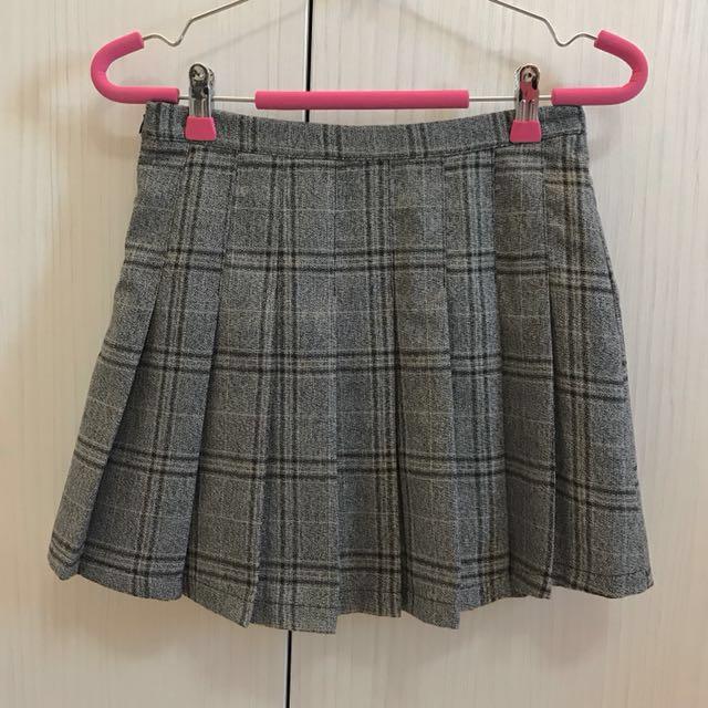 不怕走光質感格子褲裙🌙