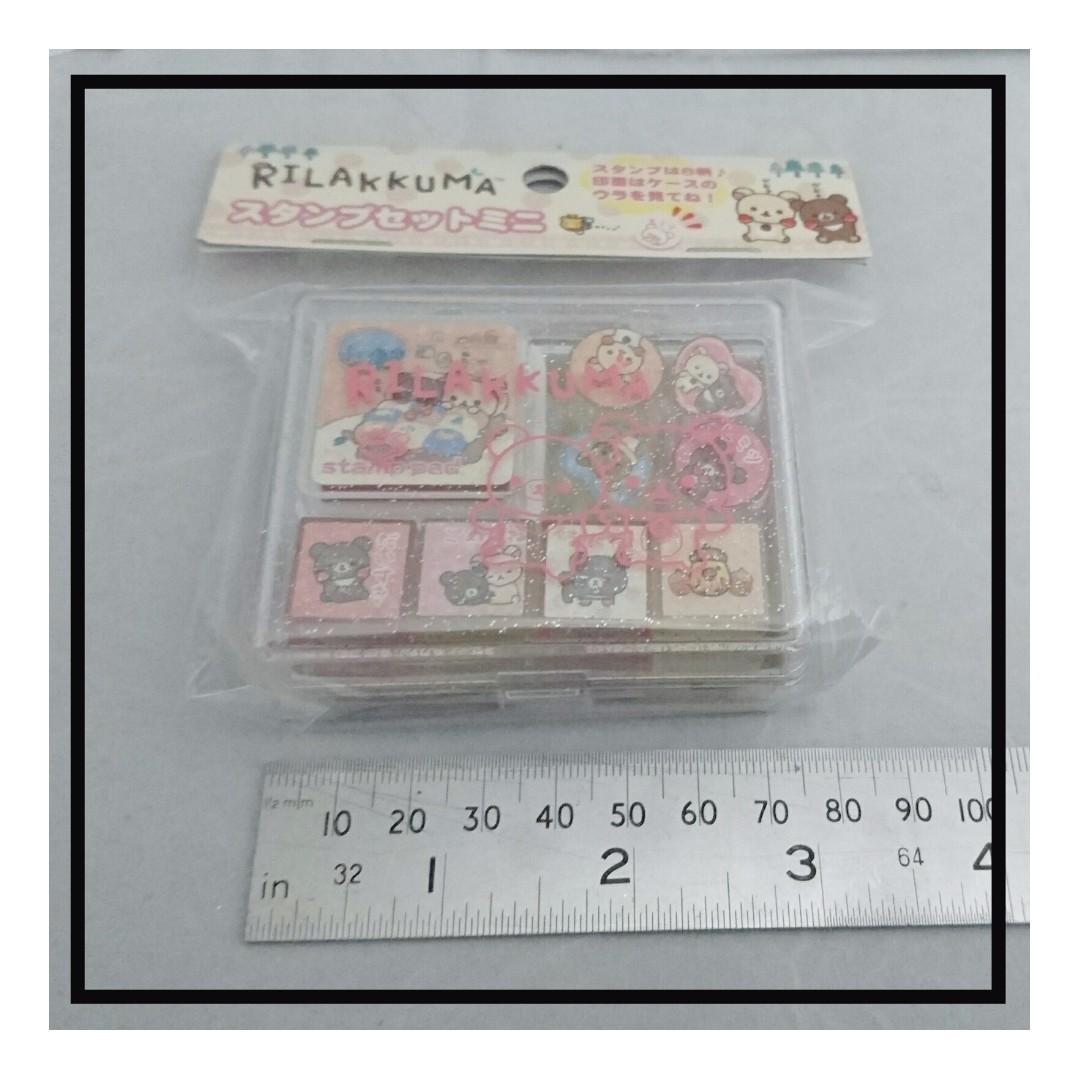 自取優惠 550Yen 特價七算 印仔印台套裝 Rilakkuma(鬆馳熊、輕鬆小熊)選郵遞或上環地鐵站交收以日本價八五算計