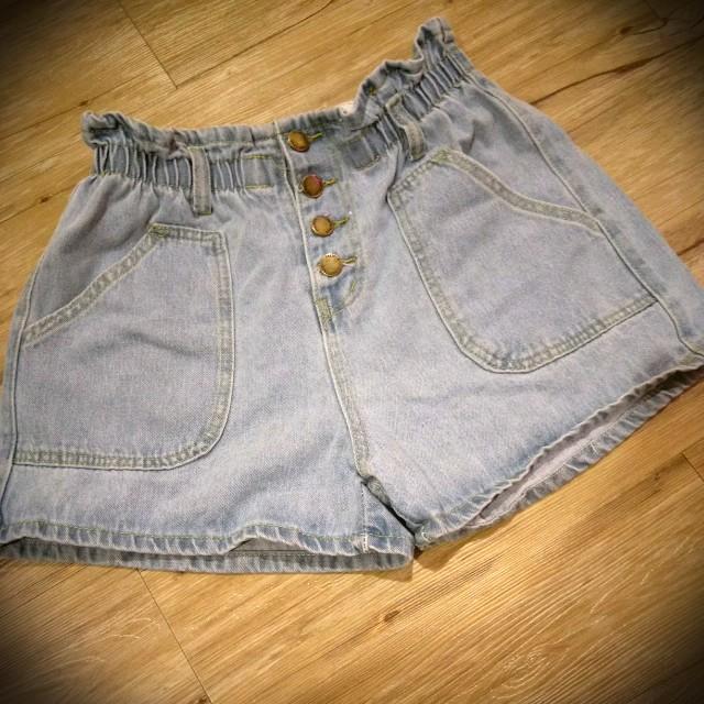 花苞牛仔短褲 M