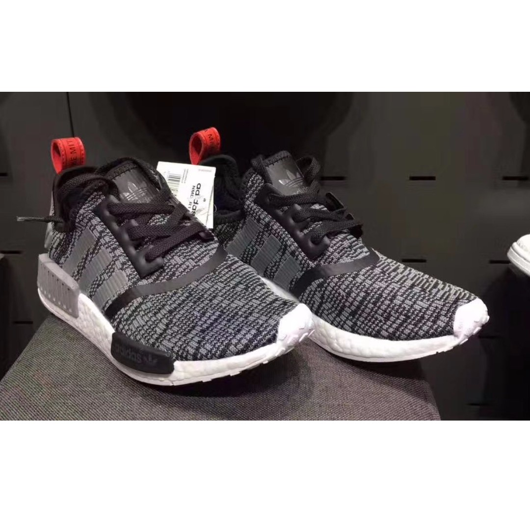 03f255584 Adidas NMD R1 Glitch  Core Black Dark Grey