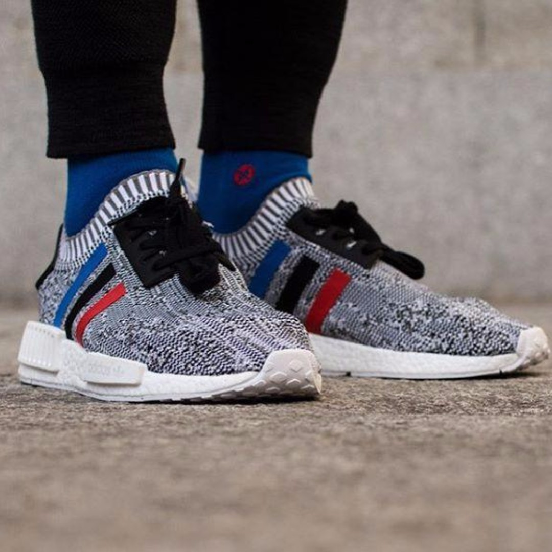 8af62ab73 Adidas NMD R1 Primeknit Tri-color Pack Grey