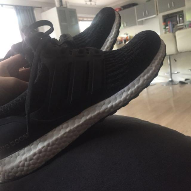 Adidas UltraBoost Core black 3.0 us 10