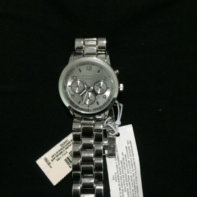 Aero Silver Boyfriend Watch