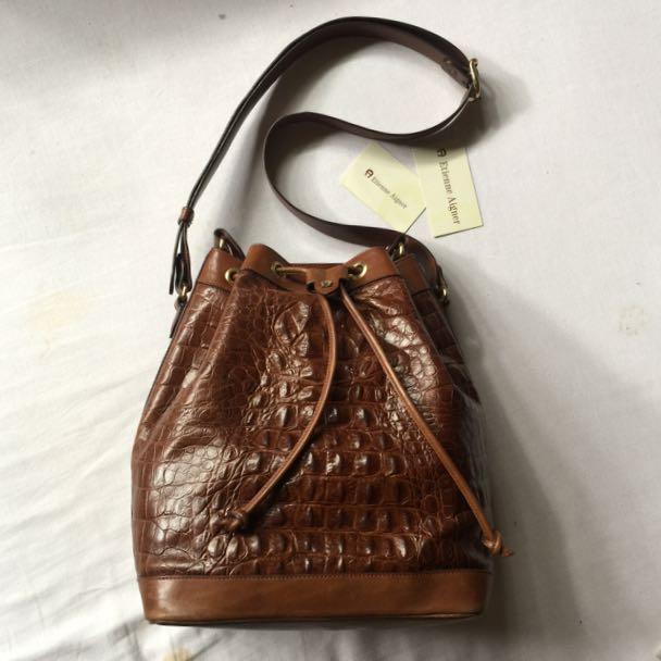 Aigner Vintage Drawstring Bag