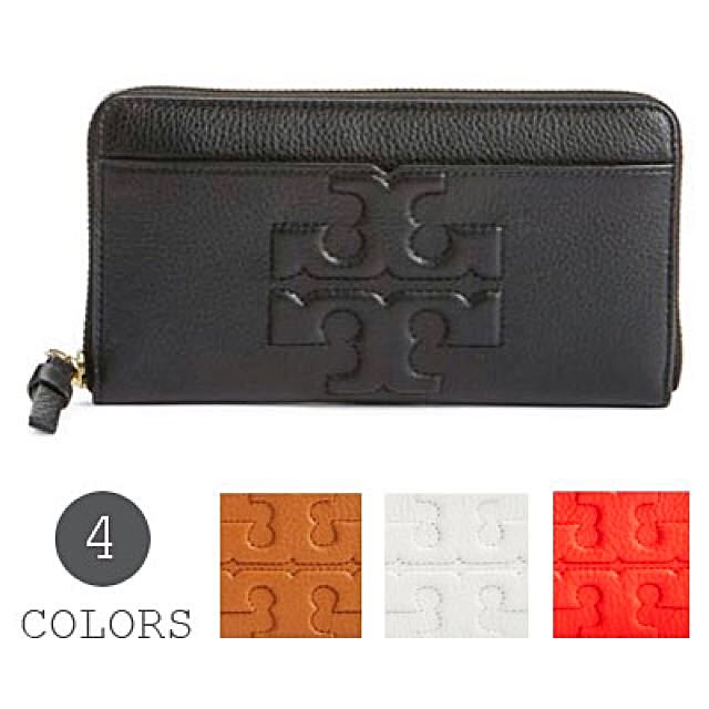 c4bb105a57 Authentic Tory Burch Bombe-T Long Leather Zip Continental Wallet ...