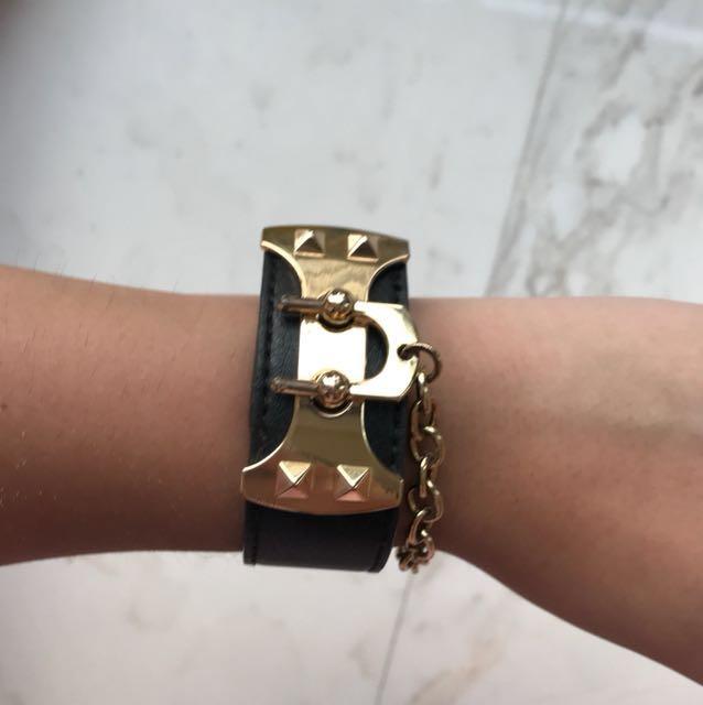 BCBG Maxazria Wide Leather Bracelet