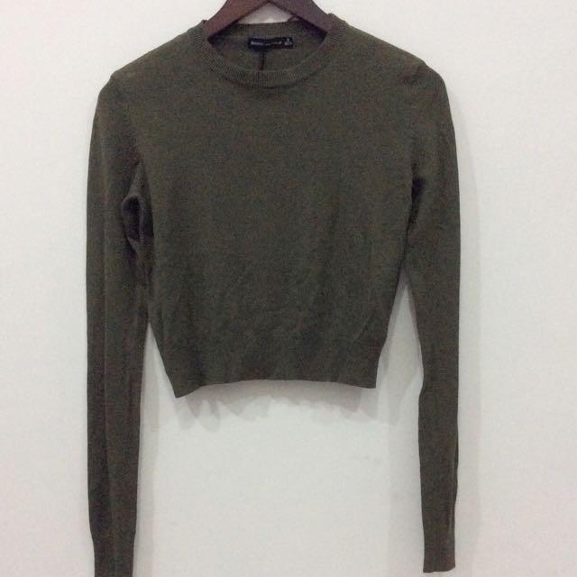 Bershka green army sweater/ sweatshirt