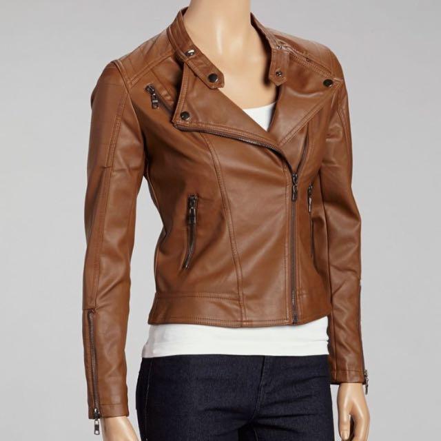 Tan Biker Jacket