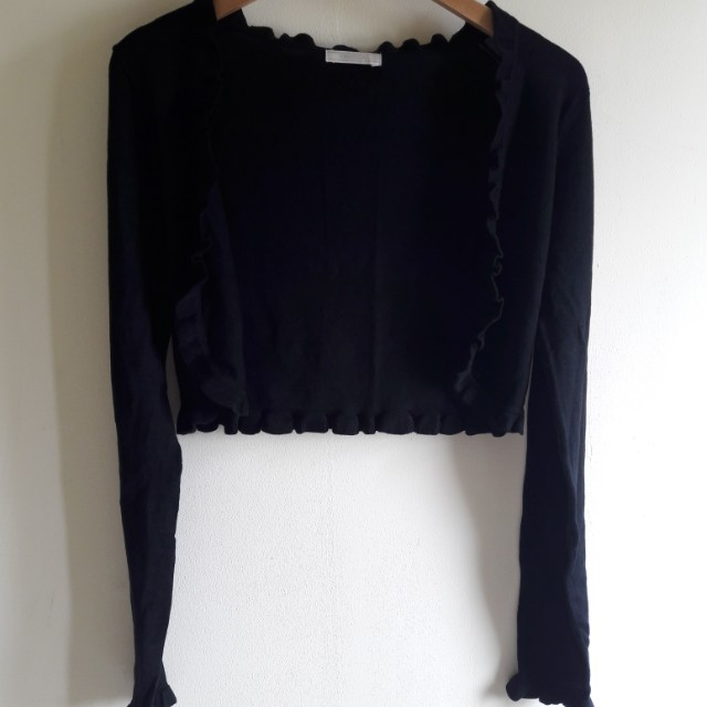 Black Crop Cardigan Outer