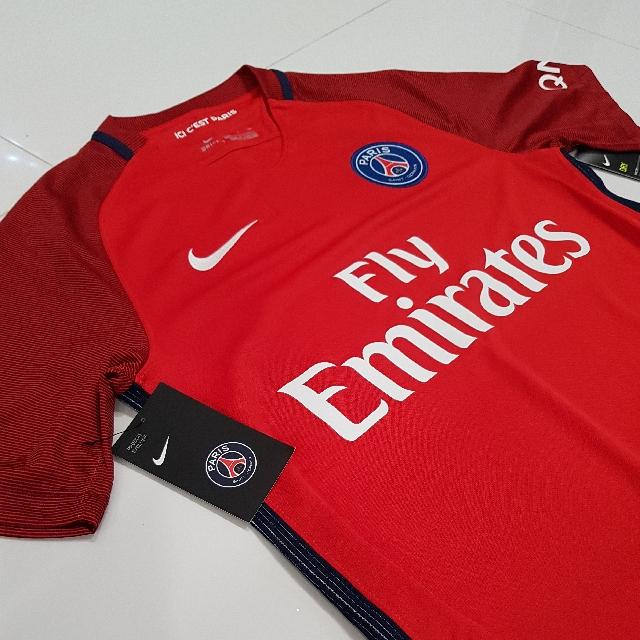 new style b0417 b1110 BN Authentic Paris Saint Germain PSG Soccer Jersey size S ...