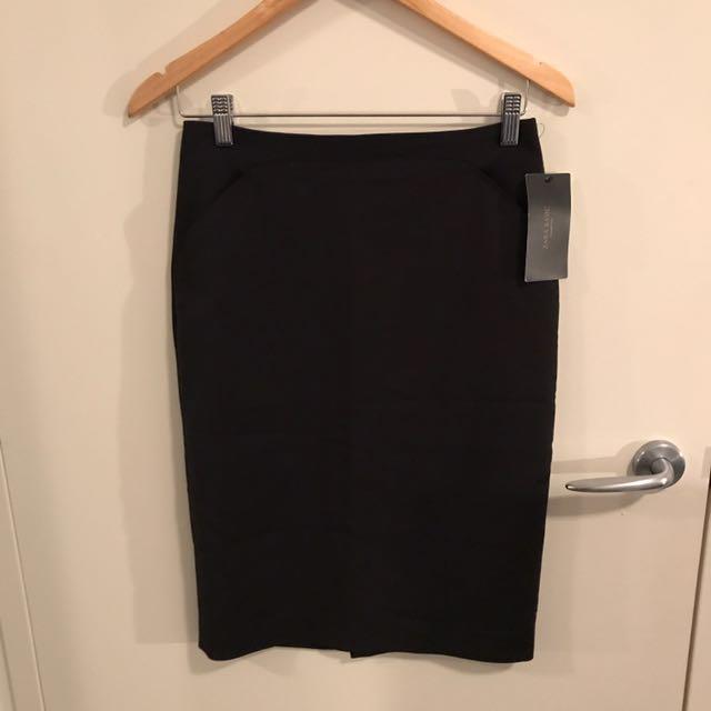 BRAND NEW Zara Basic Black Skirt