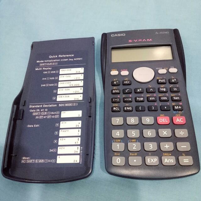 Casio 工程用計算機 FX-350MS 湛藍色