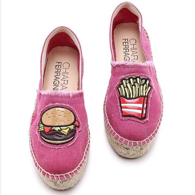 Chiara Ferragni Burger & Fries Espadrilles