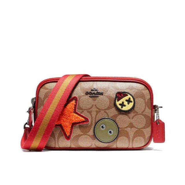 Coach in Coated Signature Canvas with Varsity Patches