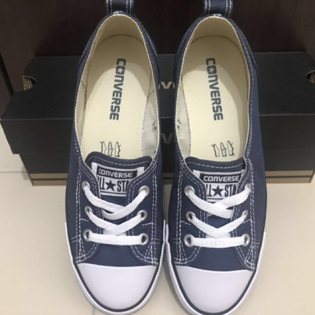 ffbacf2be6ed63 Converse CT Ballet Lace Slip-Navy
