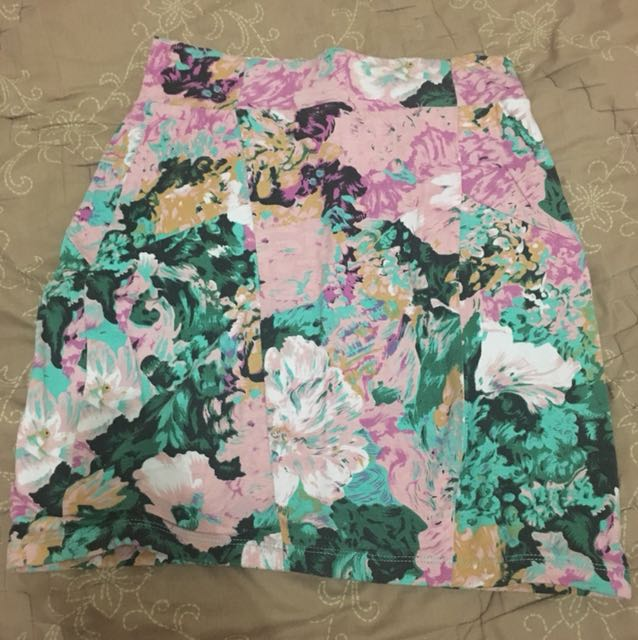 Cotton On Pencil Skirt Floral 1