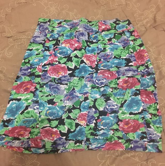 Cotton On Pencil Skirt Floral 2