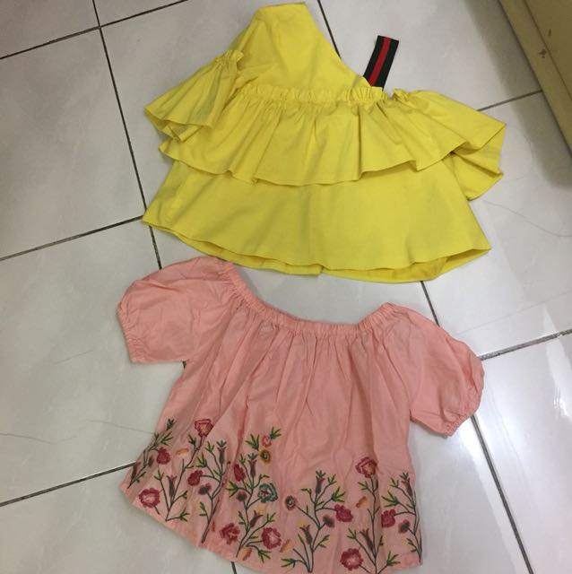 Crop top (yellow 120rb, pink 100rb) NEW!!!