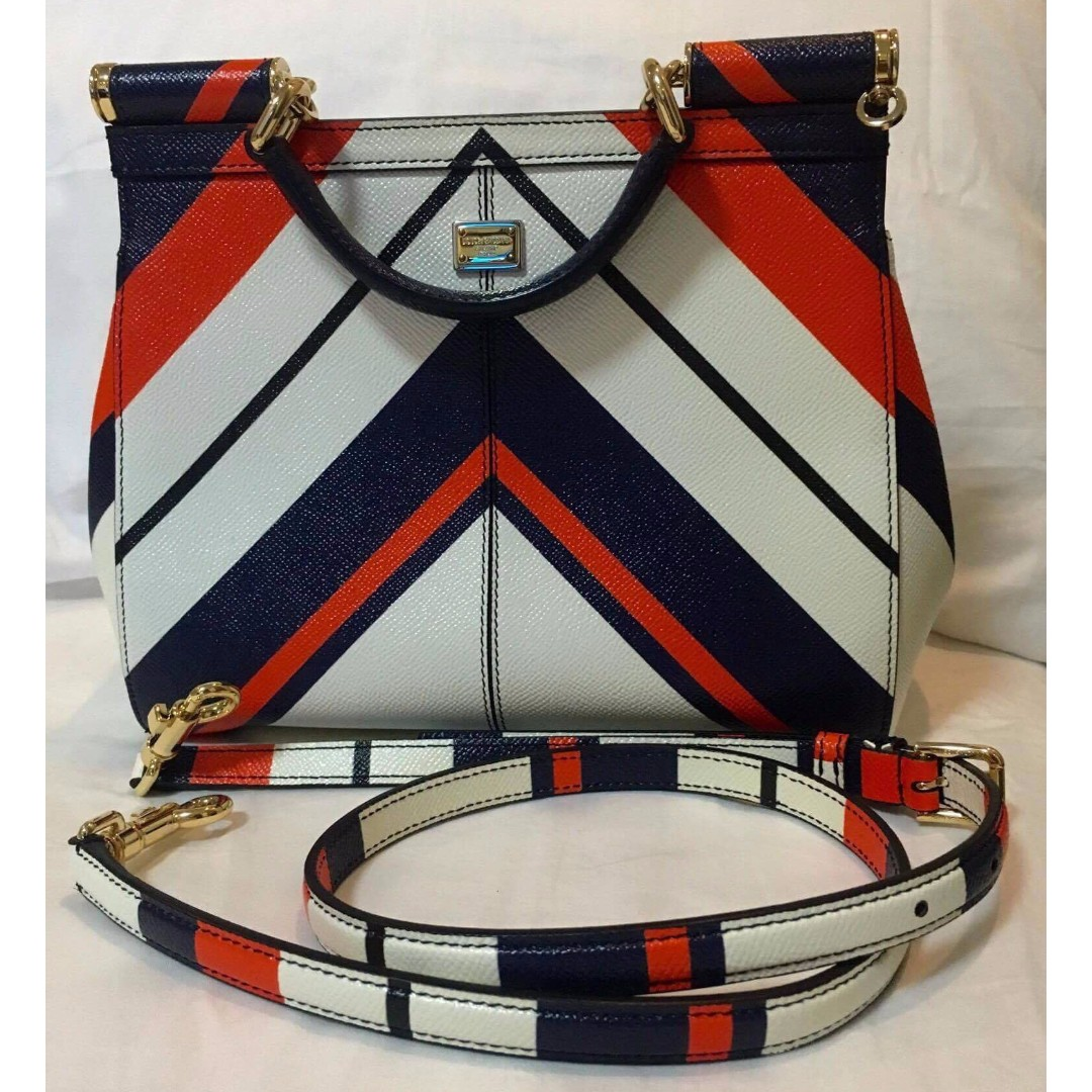 Dolce & Gabbana Sicily Stripes Bag Like New