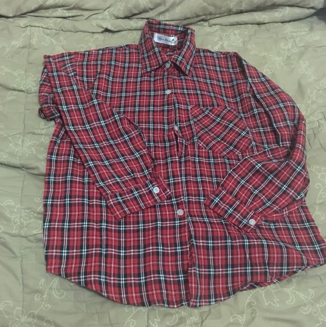 Flanel Shirt - Red - Fit to M