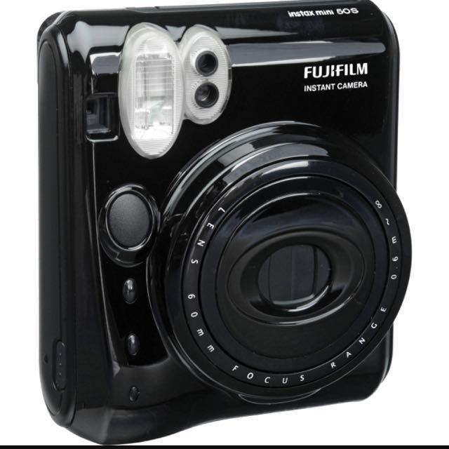 fujifilm instax mini 50s piano black polaroid camera photography on