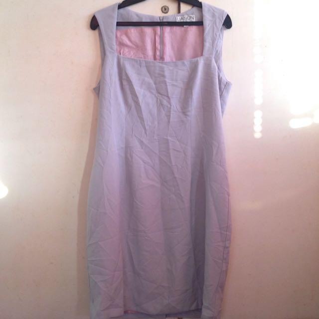 Gray formal dress LARGE