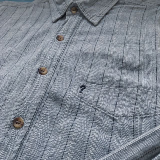 GUESS ❓ 襯衫 淺藍直條紋