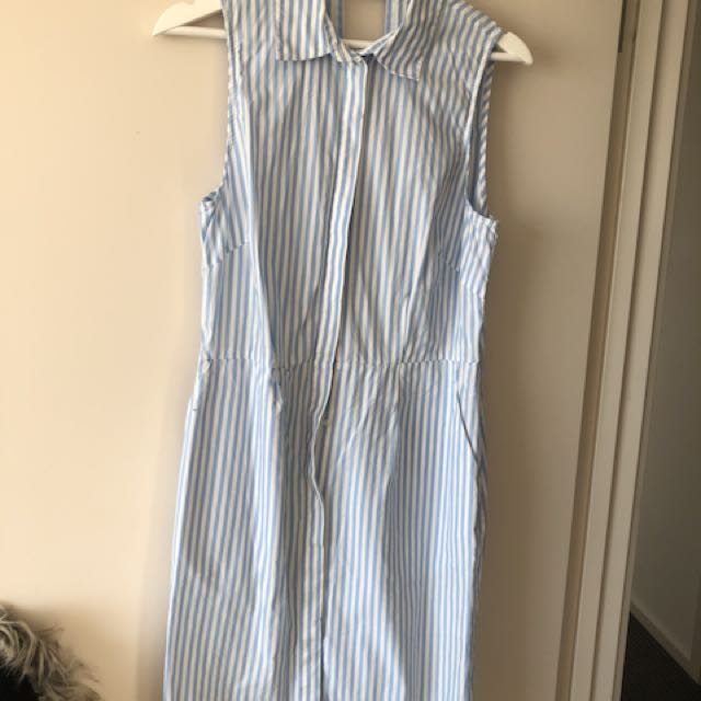 H & M striped dress , open back