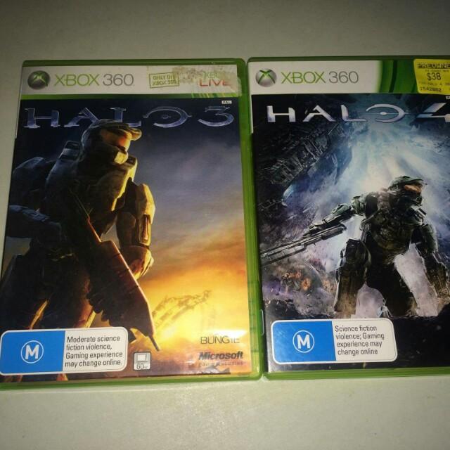 Halo 3 & 4..PAL.. xbox360
