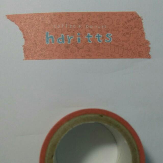 日本甜甜圈haritts紀念紙膠帶