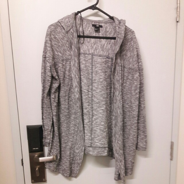 H&M Hooded Lightly Knit Cardigan