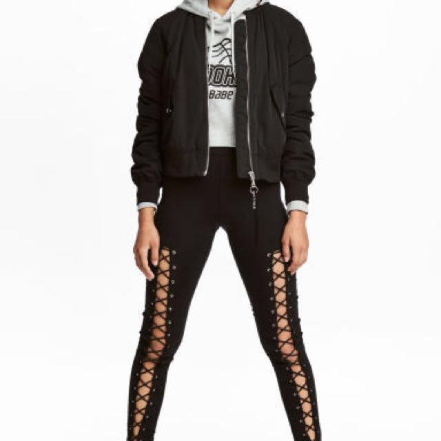 H&M leggings with lacing