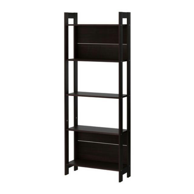 Ikea LAVIA bookcase/rack, black brown
