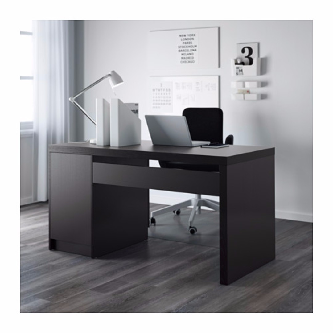 Ikea MALM Desk, Home U0026 Furniture, Furniture, Tables U0026 Chairs On Carousell
