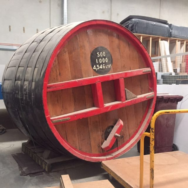Industrial wine barrel
