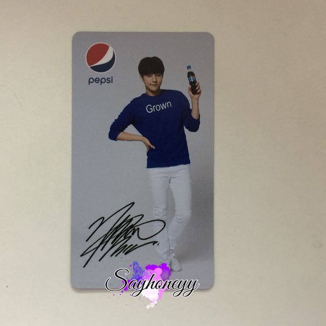Infinite Myungsoo / L Pepsi photocard